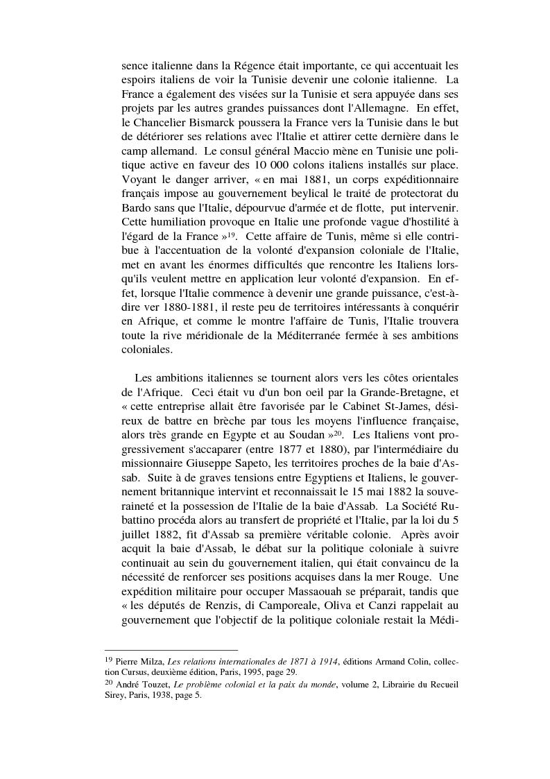 Anteprima della tesi: L'impèrialisme colonial italien depuis Crispi jusqu'à l' Impero, Pagina 8