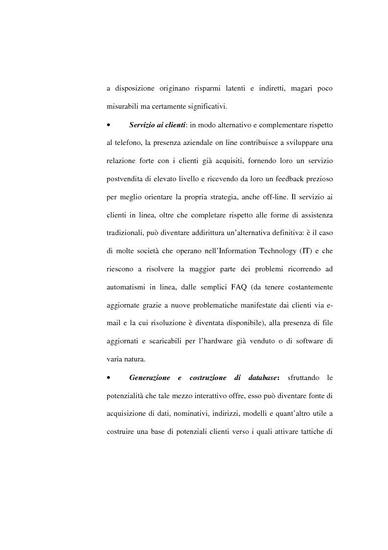 Anteprima della tesi: Organizzazione delle funzioni del Webmarketing, Pagina 14