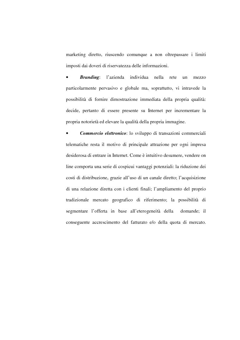 Anteprima della tesi: Organizzazione delle funzioni del Webmarketing, Pagina 15