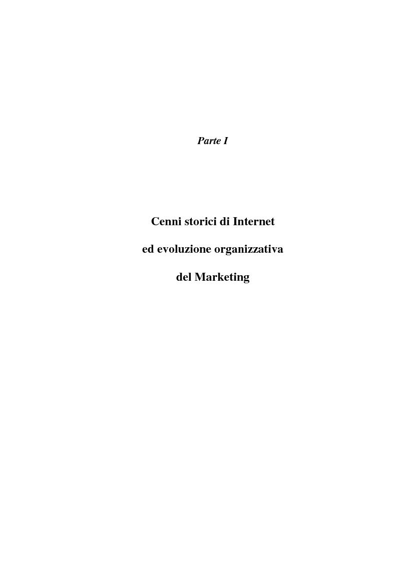 Anteprima della tesi: Organizzazione delle funzioni del Webmarketing, Pagina 5