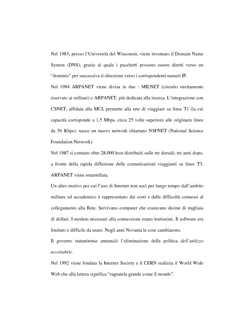 Anteprima della tesi: Organizzazione delle funzioni del Webmarketing, Pagina 8