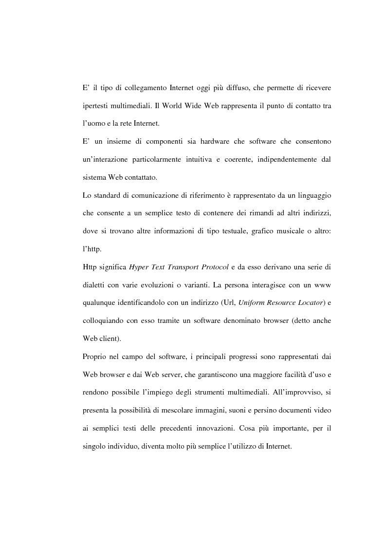 Anteprima della tesi: Organizzazione delle funzioni del Webmarketing, Pagina 9