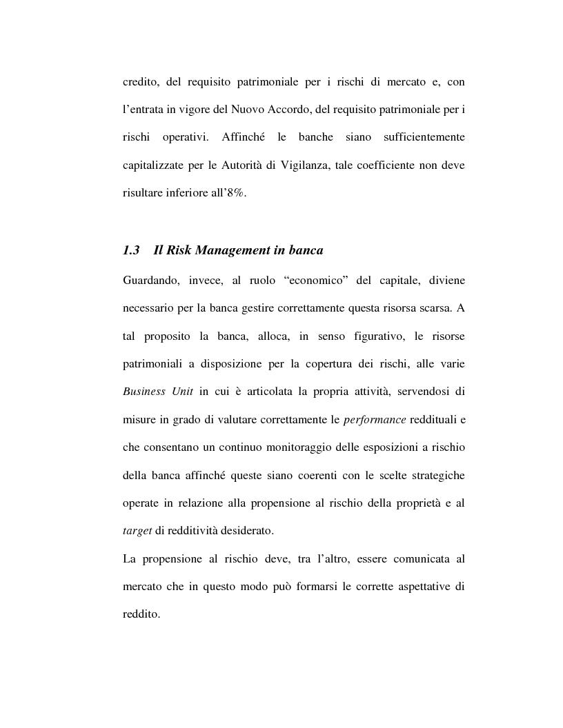 Anteprima della tesi: Riflessi organizzativi delle strategie di gestione dei rischi nelle imprese bancarie: i rischi operativi, Pagina 14