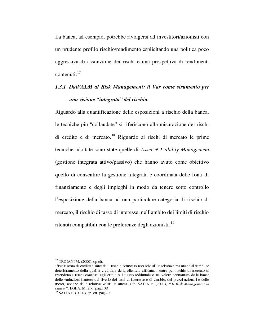 Anteprima della tesi: Riflessi organizzativi delle strategie di gestione dei rischi nelle imprese bancarie: i rischi operativi, Pagina 15