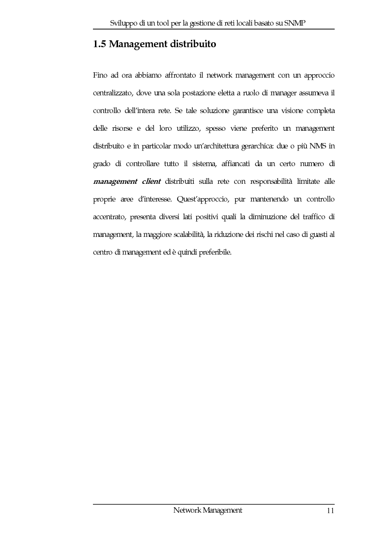 Anteprima della tesi: Sviluppo di un tool per la gestione di reti locali basato su Snmp, Pagina 11