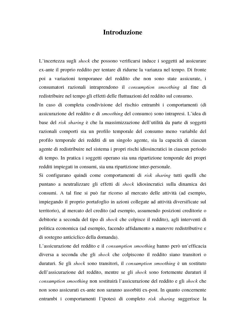 Anteprima della tesi: Uno studio empirico sui canali di diversificazione del rischio: il caso dei paesi dell'Unione Monetaria Europea, Pagina 1