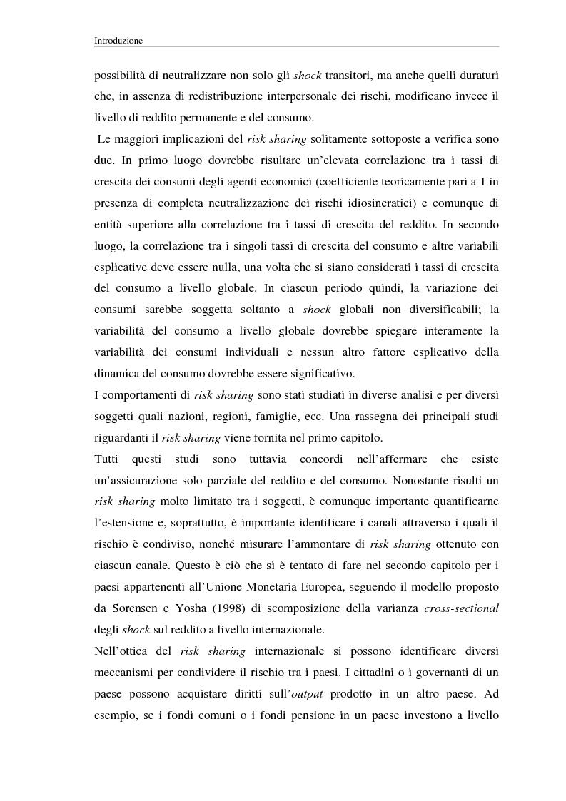 Anteprima della tesi: Uno studio empirico sui canali di diversificazione del rischio: il caso dei paesi dell'Unione Monetaria Europea, Pagina 2