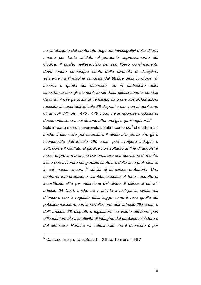 Anteprima della tesi: La nuova legge sulle indagini difensive, Pagina 5