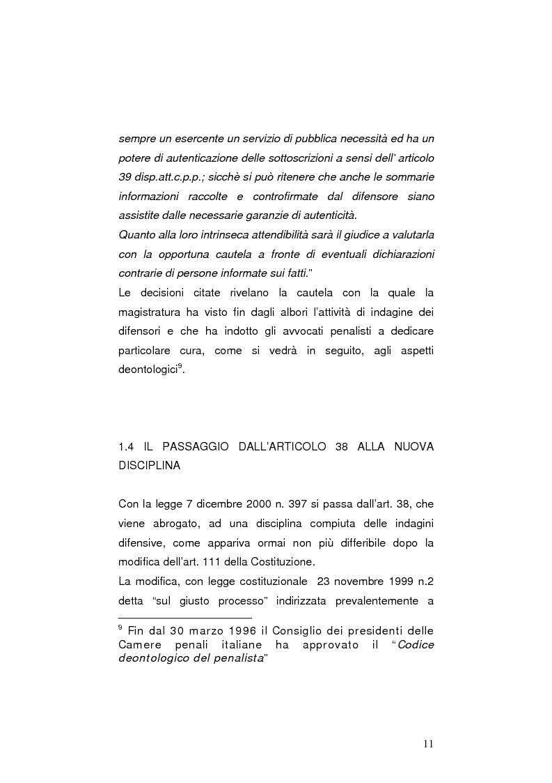 Anteprima della tesi: La nuova legge sulle indagini difensive, Pagina 6