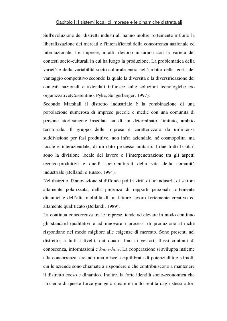 Anteprima della tesi: Sviluppo di sistemi locali d'imprese basati sull'information and communication technology: il caso Euro Sistemi S.r.l., Pagina 6