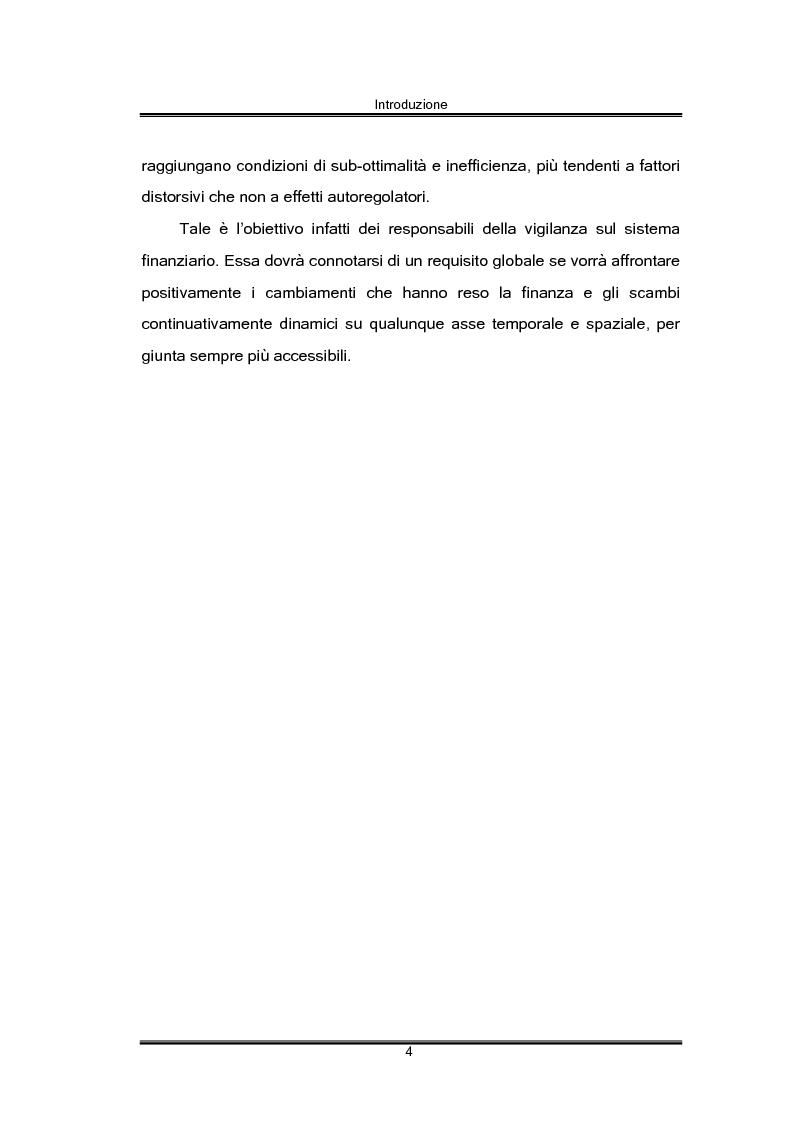 Anteprima della tesi: Regolamentazione finanziaria e vigilanza globale, Pagina 4