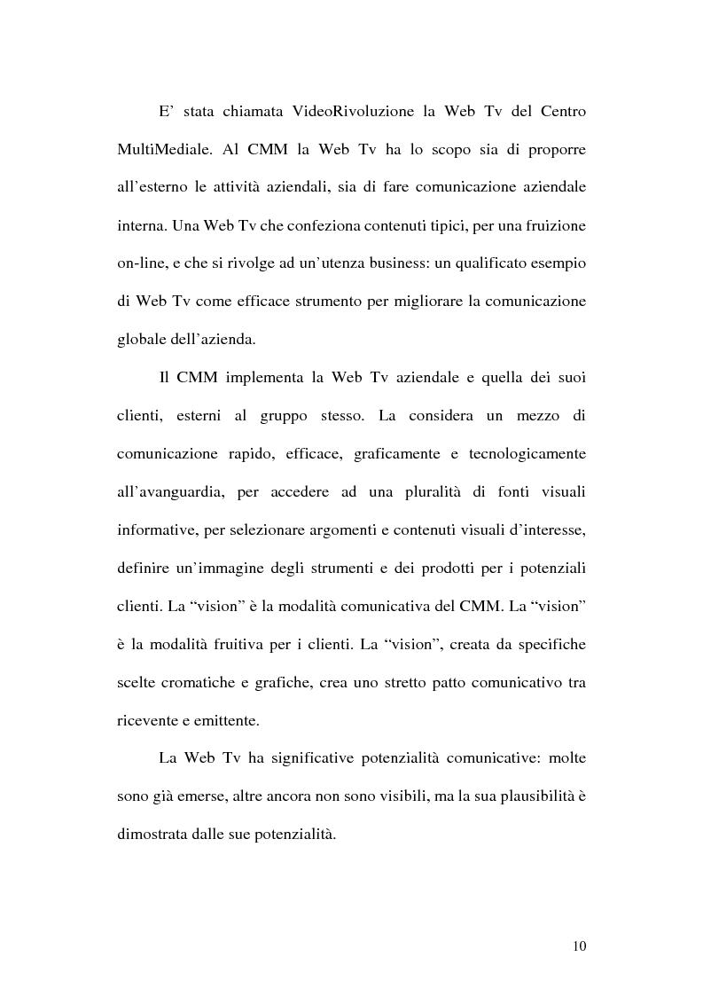 Anteprima della tesi: Web television, il medium della convergenza. Potenzialità, plausibilità ed il case history del Centro MultiMediale di Terni, Pagina 7