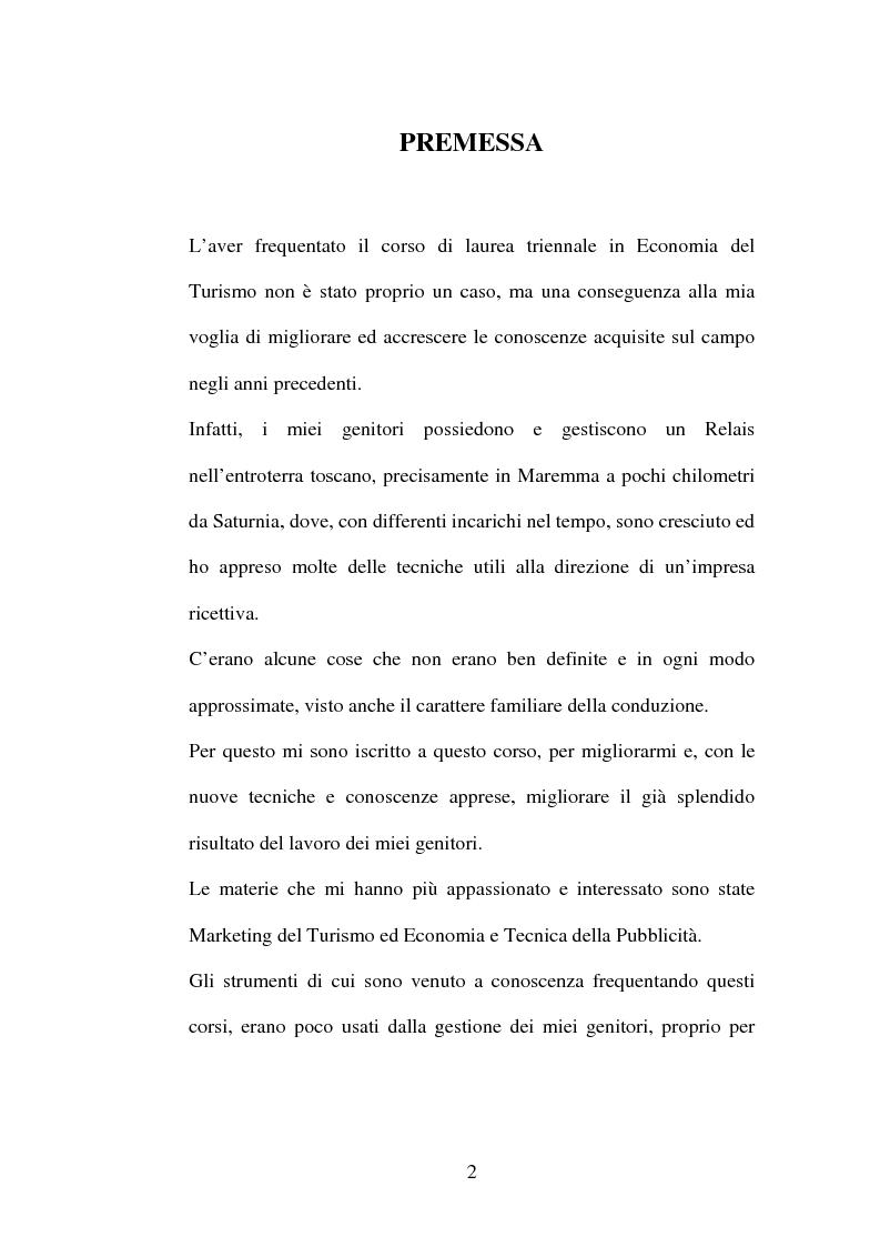 Anteprima della tesi: Piano di comunicazione: il relais Villa Acquaviva, Pagina 1