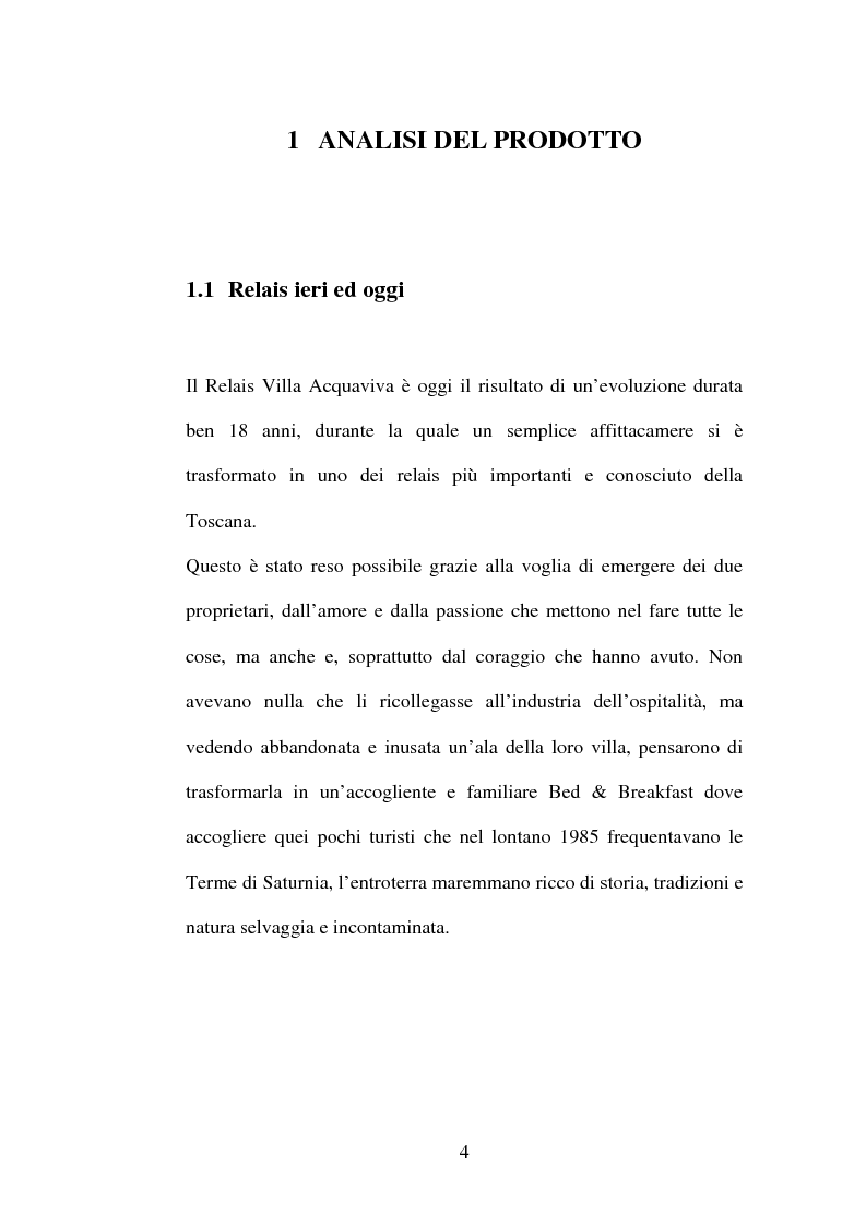 Anteprima della tesi: Piano di comunicazione: il relais Villa Acquaviva, Pagina 3