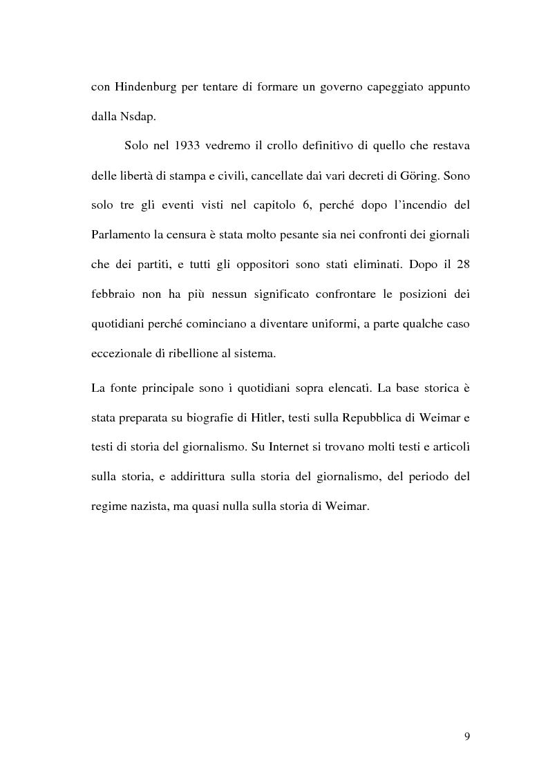 Anteprima della tesi: La figura di Hitler in alcuni quotidiani tedeschi (1923-1933), Pagina 6