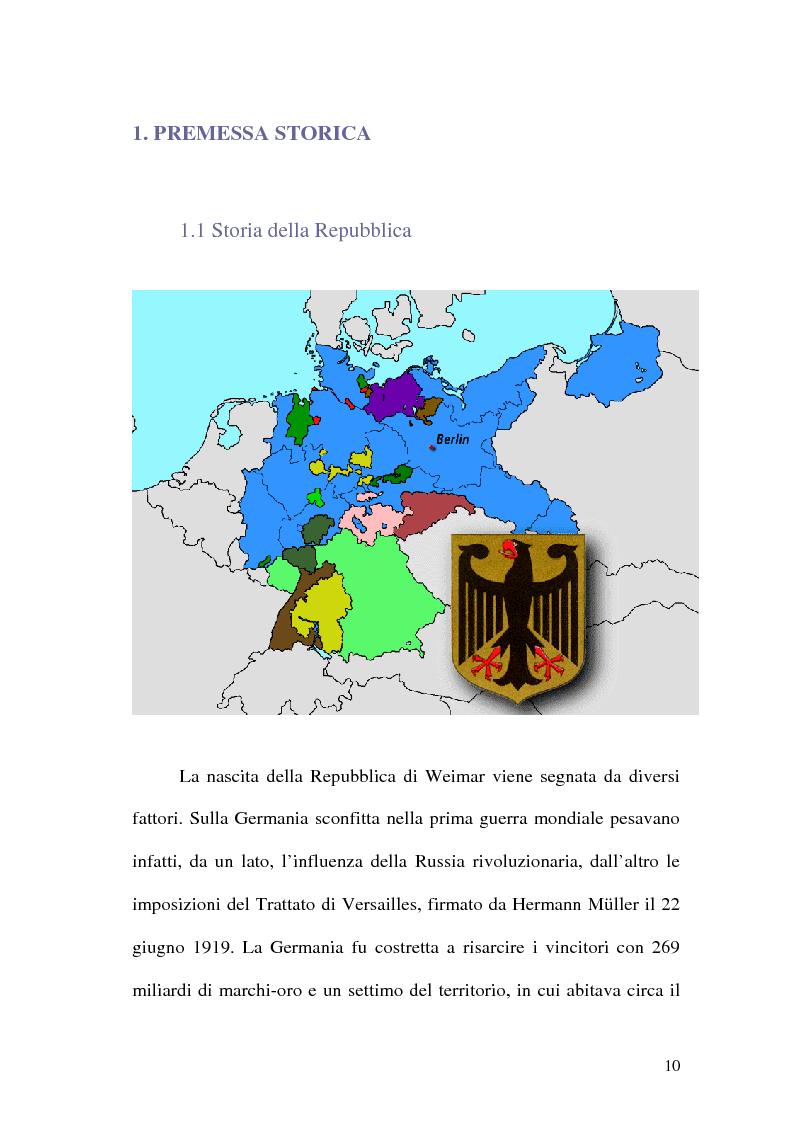 Anteprima della tesi: La figura di Hitler in alcuni quotidiani tedeschi (1923-1933), Pagina 7