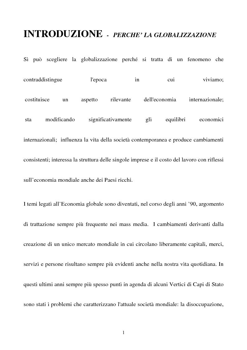 Anteprima della tesi: Didattica della globalizzazione, Pagina 1
