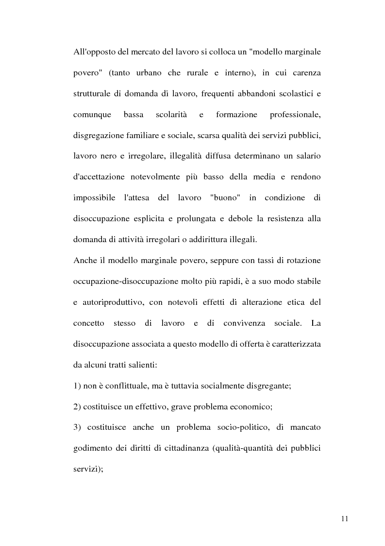 Anteprima della tesi: Capitale umano e Mezzogiorno. I nuovi termini della questione meridionale, Pagina 11