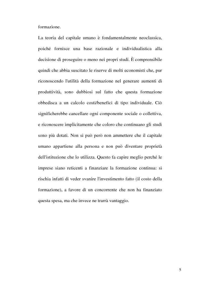 Anteprima della tesi: Capitale umano e Mezzogiorno. I nuovi termini della questione meridionale, Pagina 5