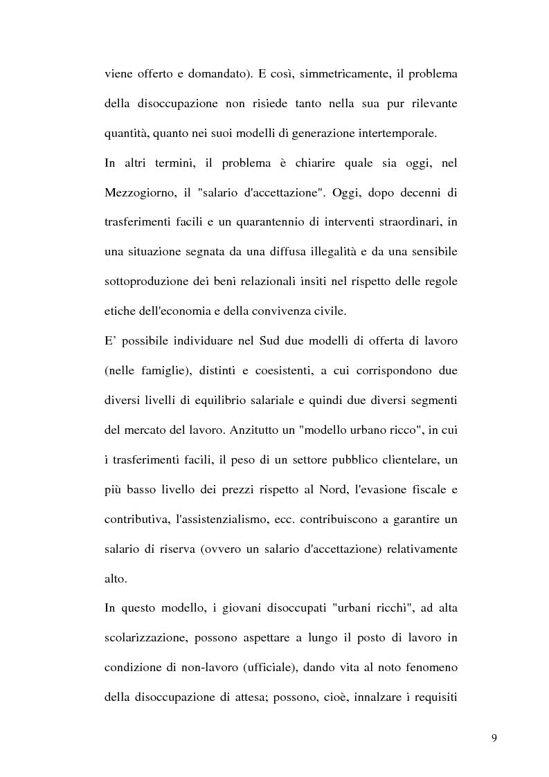 Anteprima della tesi: Capitale umano e Mezzogiorno. I nuovi termini della questione meridionale, Pagina 9