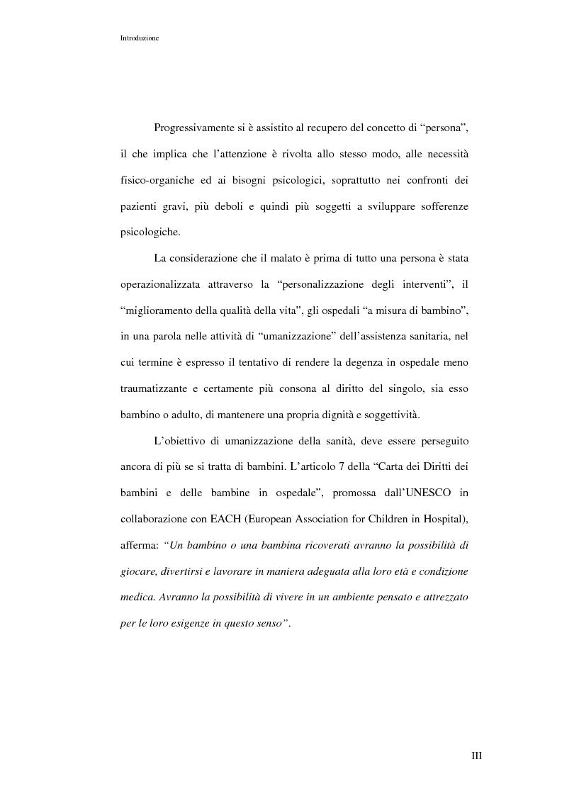 Anteprima della tesi: L'ospedalizzazione infantile: una svolta culturale, Pagina 3