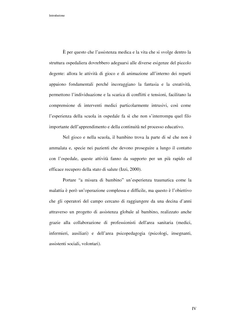 Anteprima della tesi: L'ospedalizzazione infantile: una svolta culturale, Pagina 4