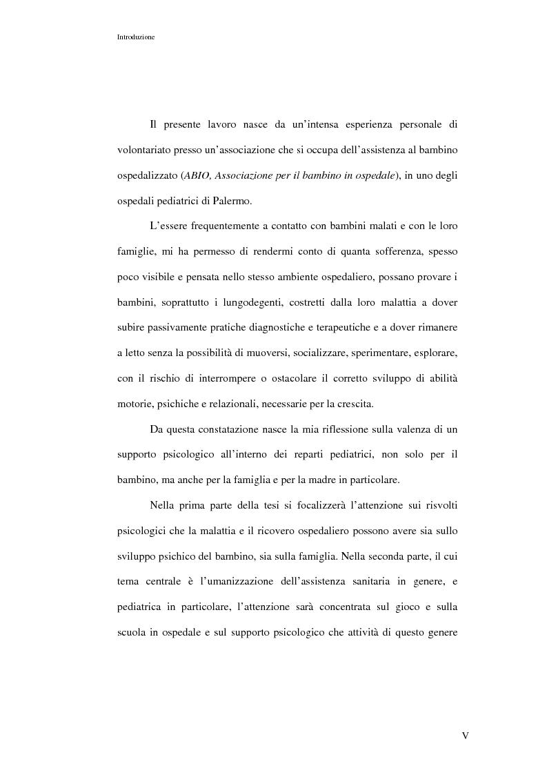 Anteprima della tesi: L'ospedalizzazione infantile: una svolta culturale, Pagina 5