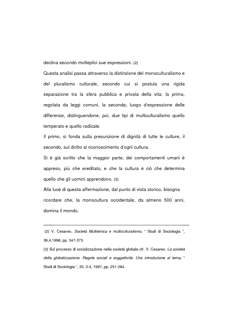 Anteprima della tesi: La società multietnica, Pagina 4