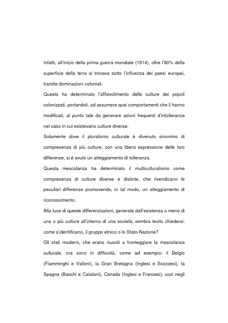 Anteprima della tesi: La società multietnica, Pagina 5
