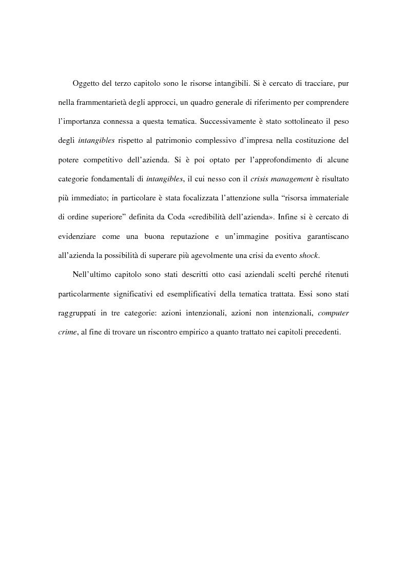Anteprima della tesi: Il ruolo strategico degli intangibles nel crisis management, Pagina 3