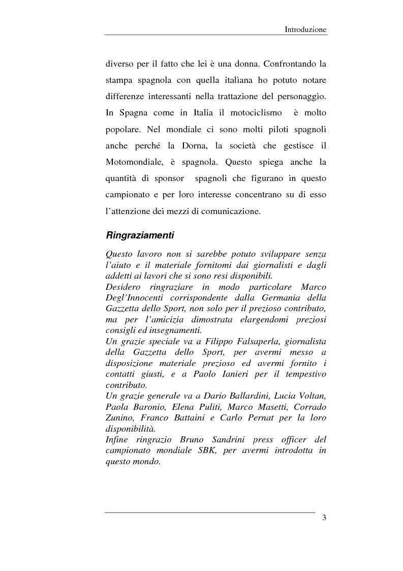 Anteprima della tesi: Il linguaggio sportivo nei giornali italiani e spagnoli. ll caso del motomondiale 2001, Pagina 3