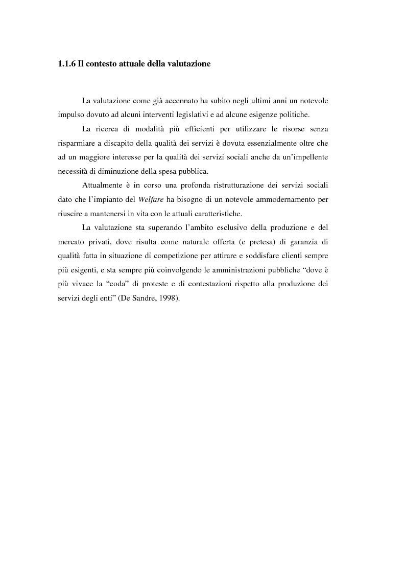 Anteprima della tesi: Nuove frontiere per la valutazione: un possibile approccio per un progetto di iniziativa comunitaria, Pagina 12