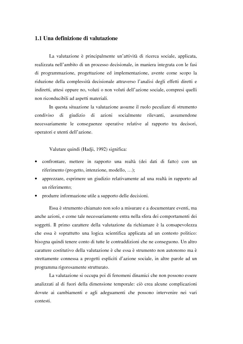 Anteprima della tesi: Nuove frontiere per la valutazione: un possibile approccio per un progetto di iniziativa comunitaria, Pagina 4