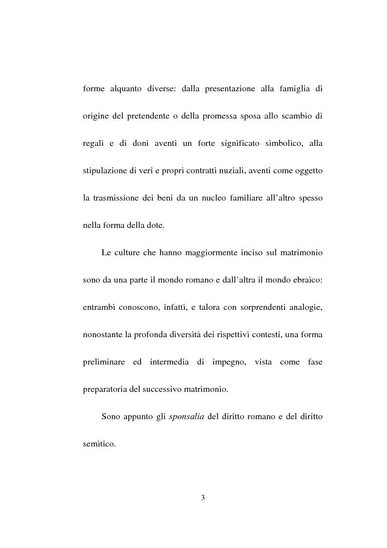 Anteprima della tesi: Gli sponsalia, Pagina 3
