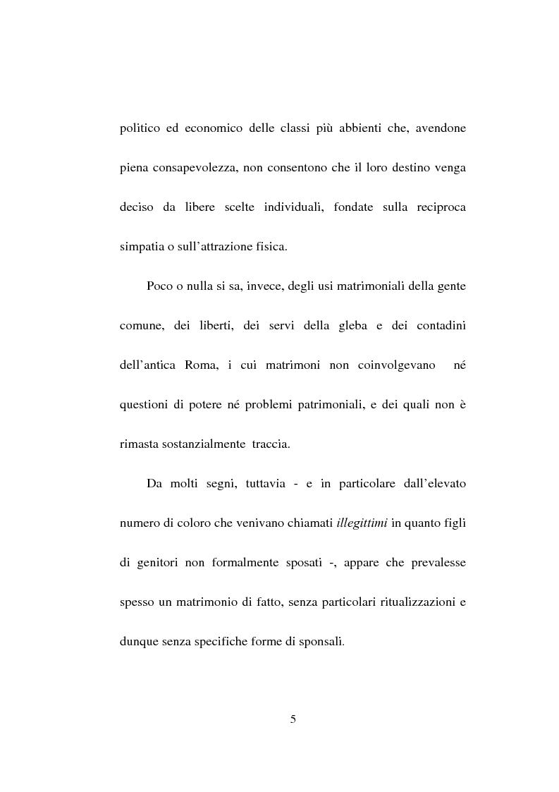 Anteprima della tesi: Gli sponsalia, Pagina 5