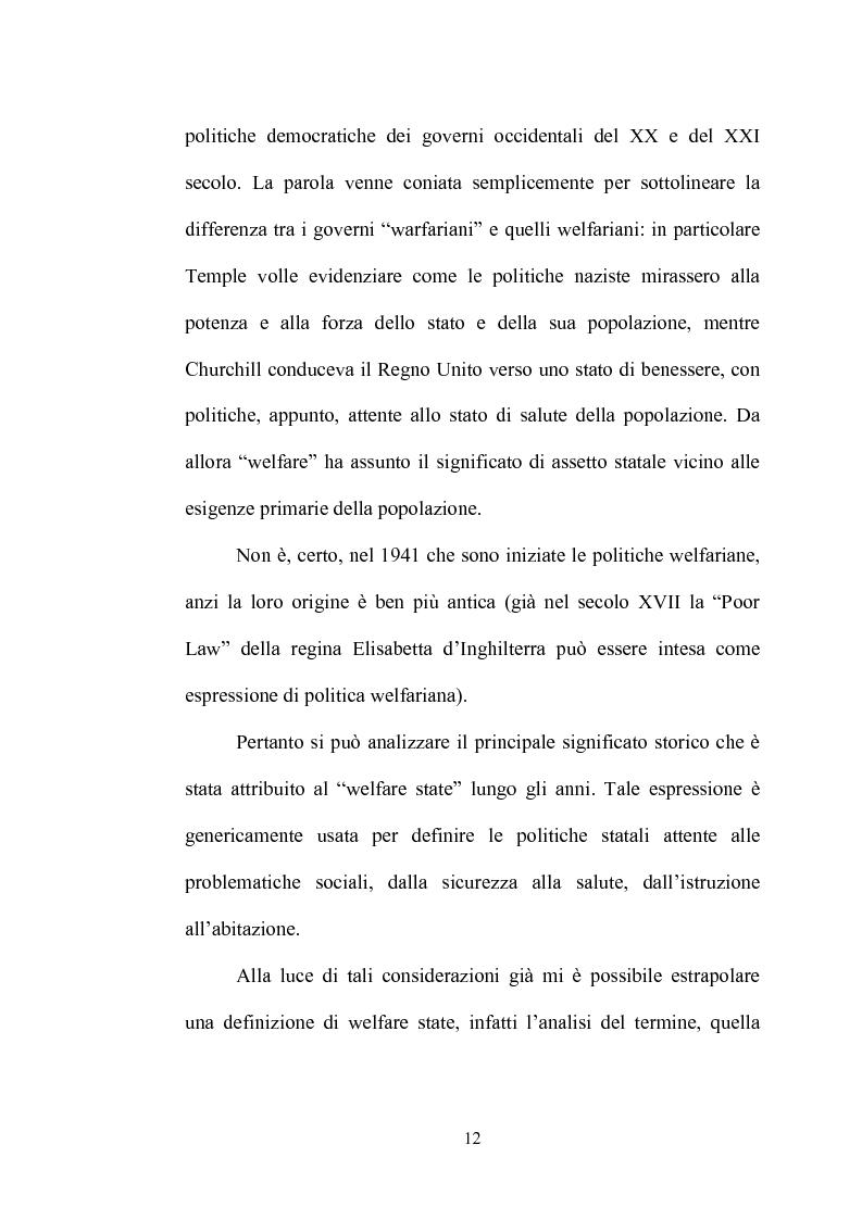 Anteprima della tesi: Nascita ed evoluzione del concetto di Welfare State, Pagina 12