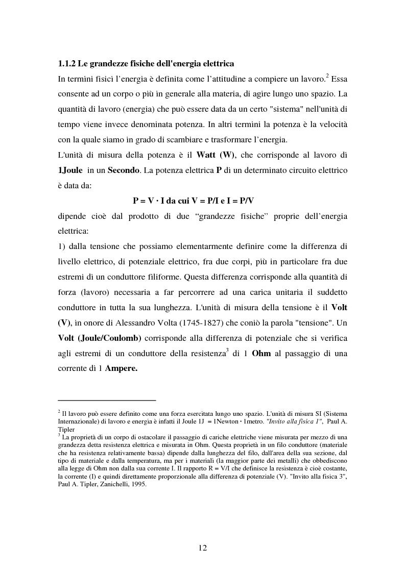 Anteprima della tesi: Produzione e distribuzione dell'energia elettrica in Italia. Gli effetti delle recenti normative, Pagina 7