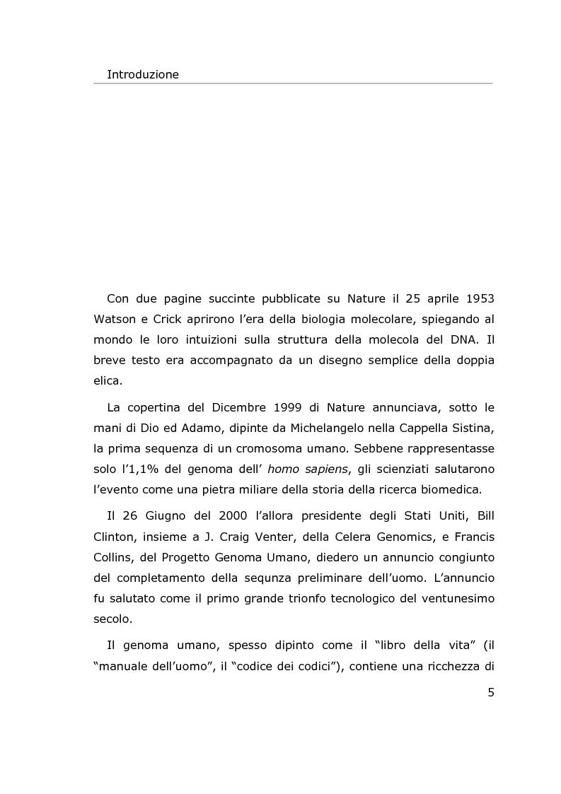 Anteprima della tesi: Metodi per l'estrazione di informazione da sequenze di DNA, Pagina 2