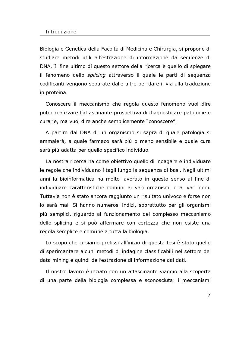 Anteprima della tesi: Metodi per l'estrazione di informazione da sequenze di DNA, Pagina 4