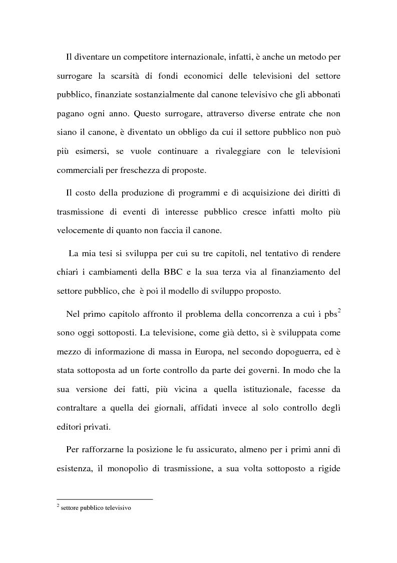 Anteprima della tesi: La BBC come modello di sviluppo per i servizi pubblici televisivi europei, Pagina 3
