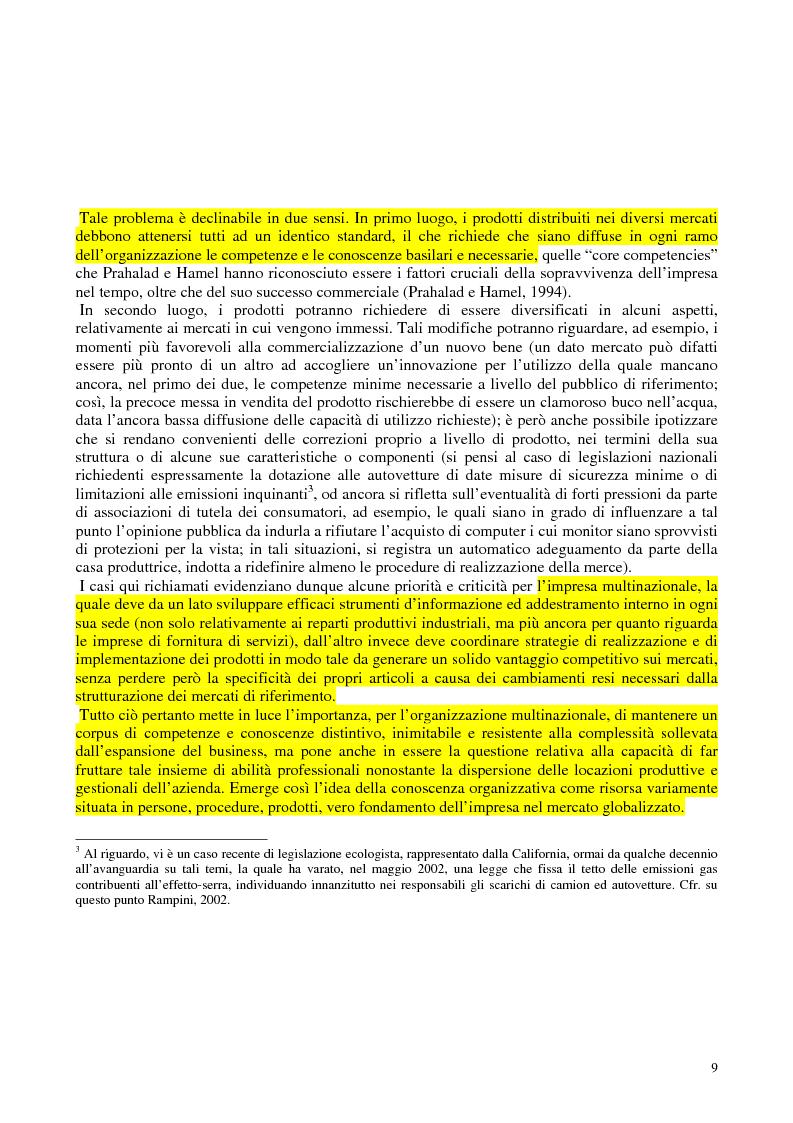 Anteprima della tesi: La costruzione sociale del knowledge management: opportunità ed ostacoli, Pagina 13