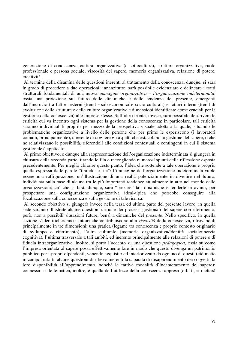 Anteprima della tesi: La costruzione sociale del knowledge management: opportunità ed ostacoli, Pagina 3
