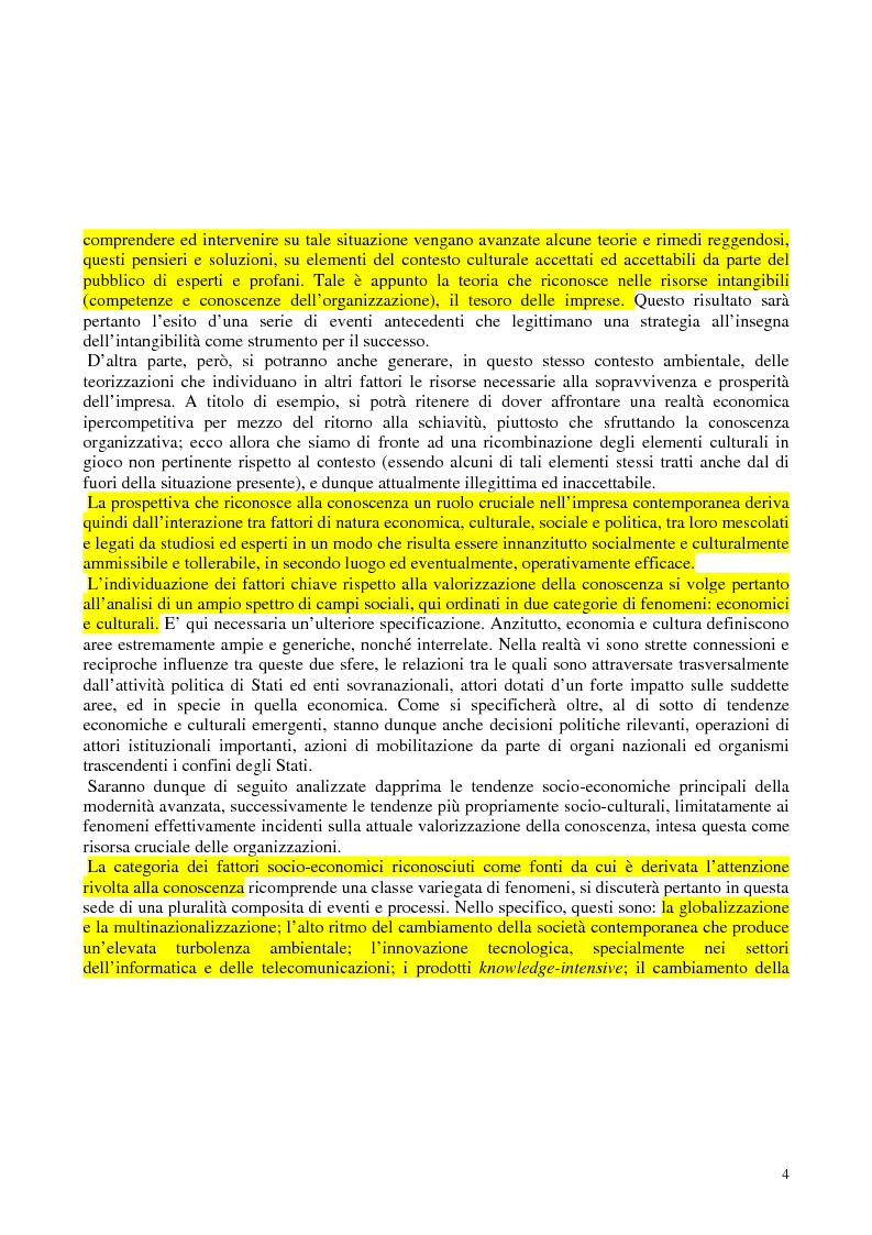 Anteprima della tesi: La costruzione sociale del knowledge management: opportunità ed ostacoli, Pagina 8