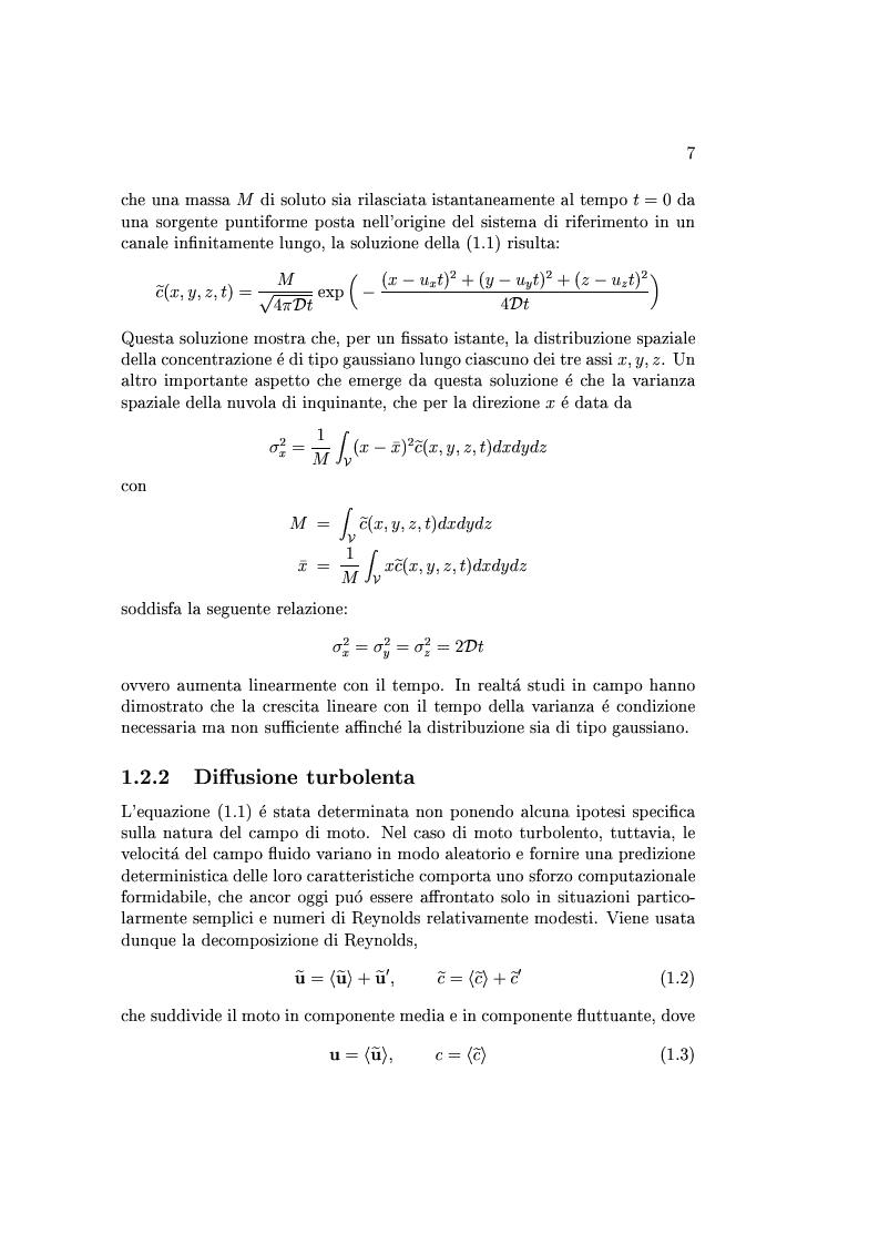 Anteprima della tesi: Studio della dispersione in alvei meandriformi, Pagina 4