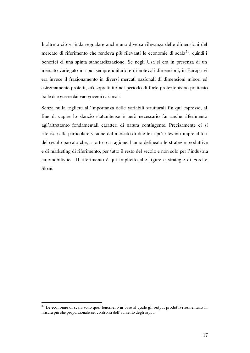 Anteprima della tesi: Evoluzione organizzativa e rivoluzione normativa nel settore auto: market pull e regolamento (CE) n. 1400/2002, Pagina 11