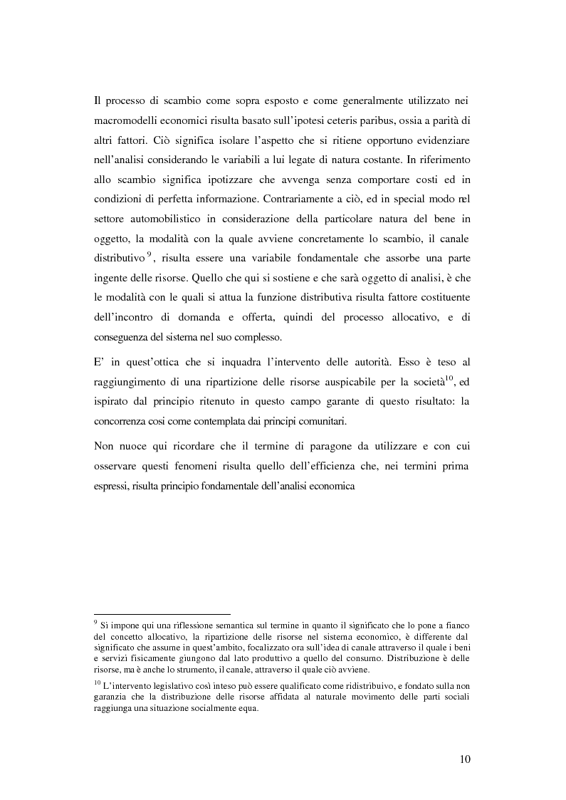 Anteprima della tesi: Evoluzione organizzativa e rivoluzione normativa nel settore auto: market pull e regolamento (CE) n. 1400/2002, Pagina 5