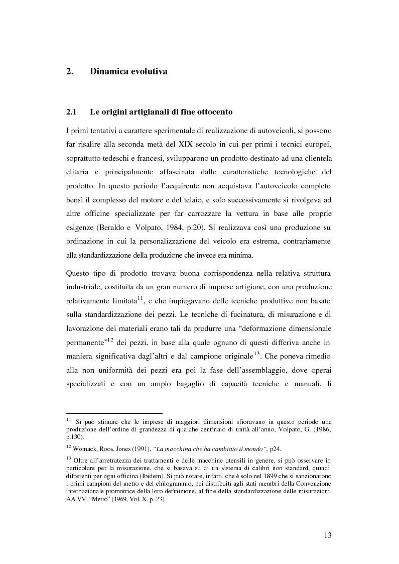 Anteprima della tesi: Evoluzione organizzativa e rivoluzione normativa nel settore auto: market pull e regolamento (CE) n. 1400/2002, Pagina 7