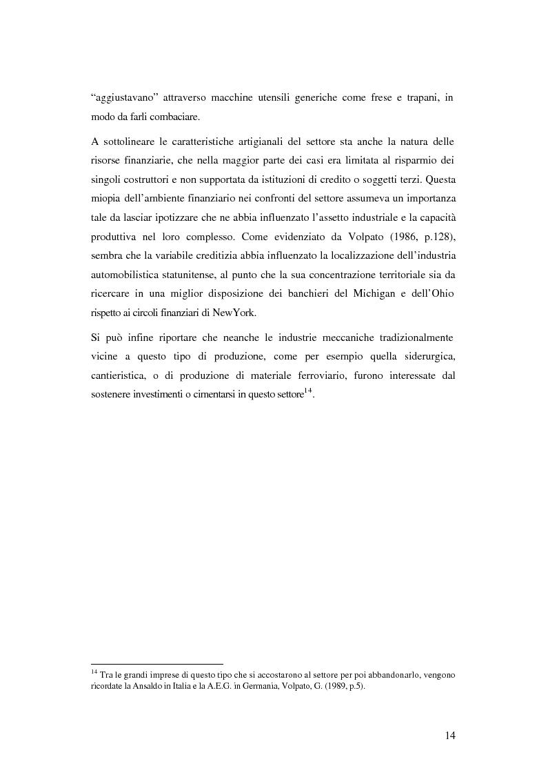 Anteprima della tesi: Evoluzione organizzativa e rivoluzione normativa nel settore auto: market pull e regolamento (CE) n. 1400/2002, Pagina 8