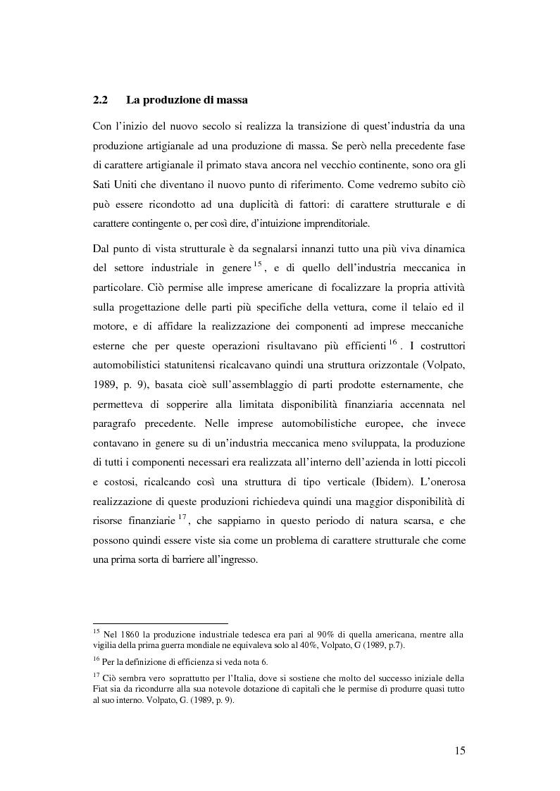 Anteprima della tesi: Evoluzione organizzativa e rivoluzione normativa nel settore auto: market pull e regolamento (CE) n. 1400/2002, Pagina 9
