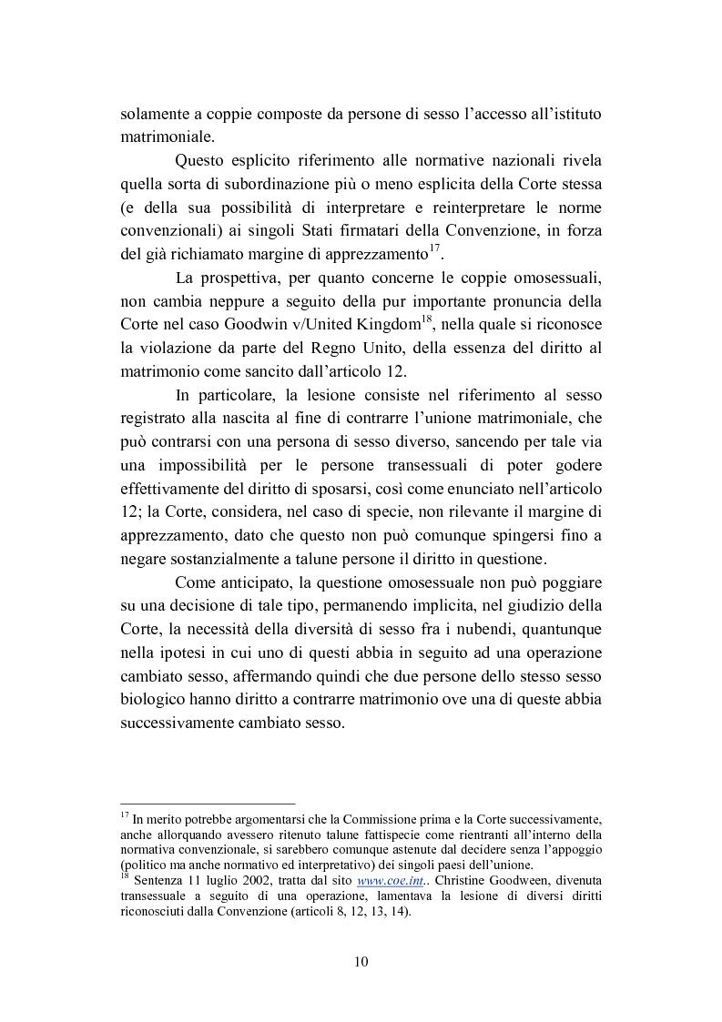Anteprima della tesi: La convivenza fra persone dello stesso sesso, Pagina 10